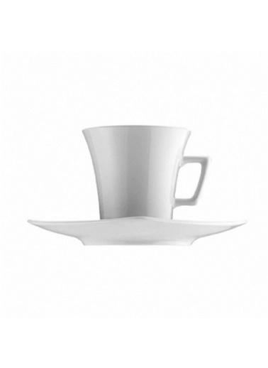 Kütahya Porselen Kütahya Porselen Medusa Kahve Fincanı Tabaklı Dekorsuz 6'Lı Renkli